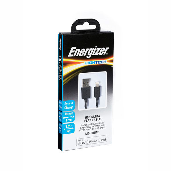 Picture of Flat Lightning Cable 1.2m - Energizer