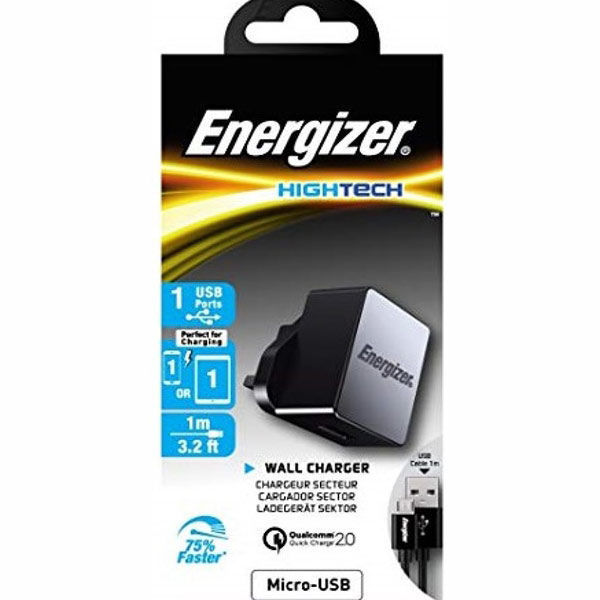 Picture of Wall Charger + Micro USB Cable - Energizer