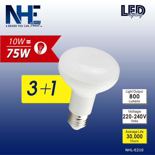 NHE LED 3+1 R80-10W 6500K NHL-210