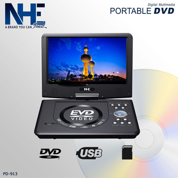 NHE Portable 9'' DVD Player - PD-913