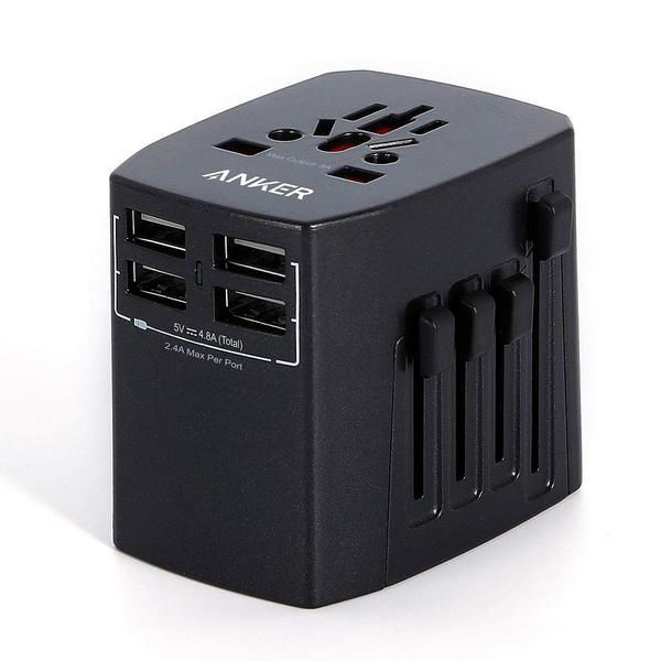 Picture of Anker Universal Travel Adapter with 4 USB Ports -Black
