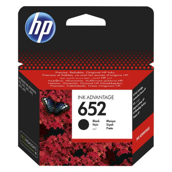 Picture of hp ink 652 black