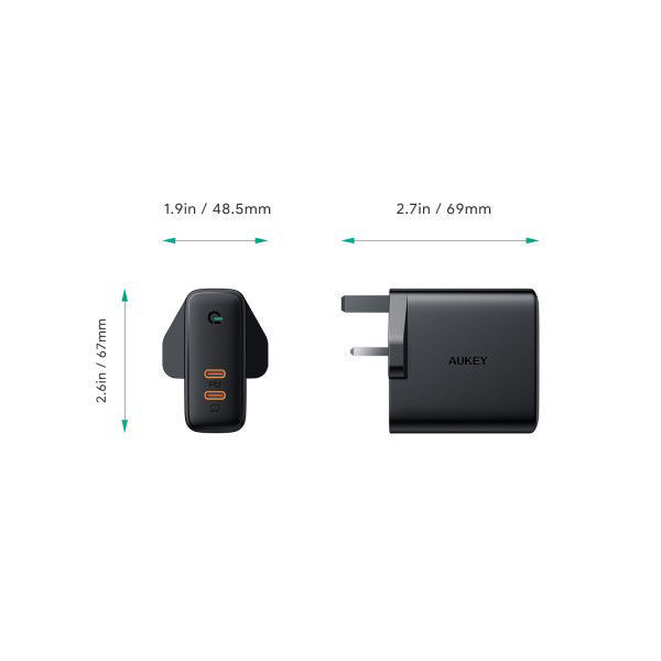 Wall Charger - Aukey - PA-D5 BK