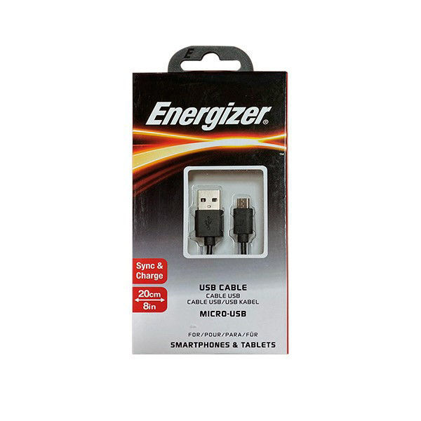 Picture of MICRO USB M/A FEM CABLE 20CM  - ENERGIZER
