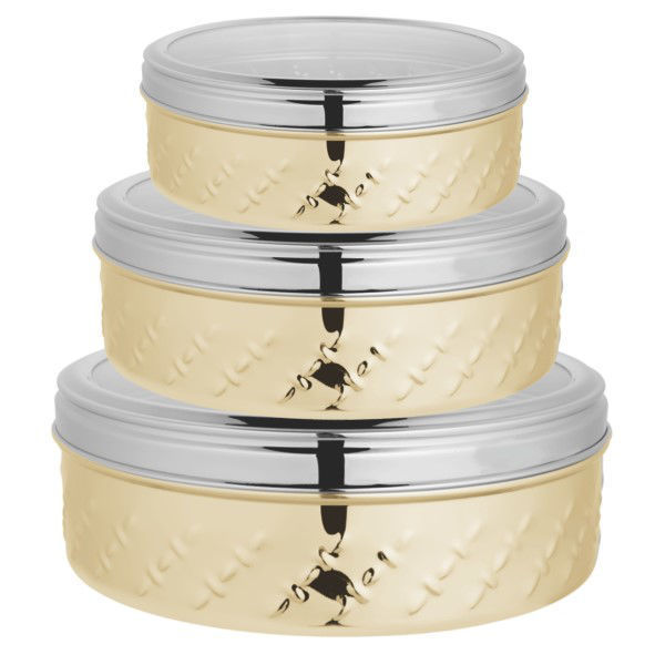 Picture of STAINLESS STEEL CONTAINER SET 3PC - GOLD