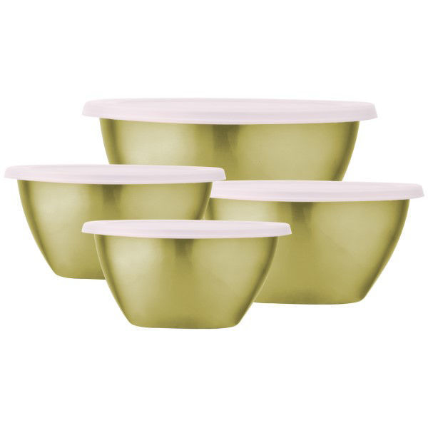 Picture of Stainless Steel Kitchen Mixing Bowl-4pc Set - GOLD