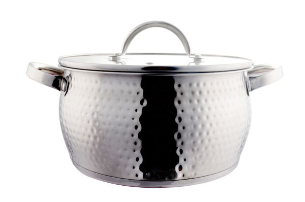 Picture of STAINLESS STEEL COOKING POT WITH GLASS LID 20 CM