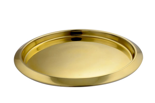 Picture of STAINLESS STEEL ROUND SERVING TRAY 35CM