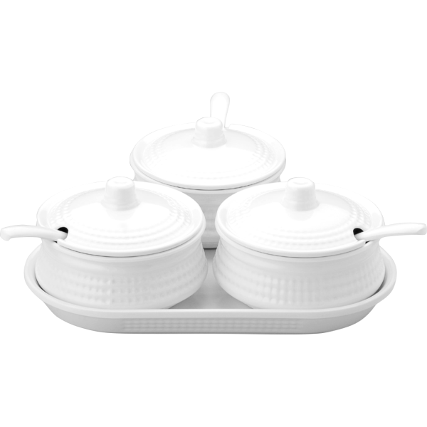 Picture of 10 PCS  PICKLE SET - WHITE