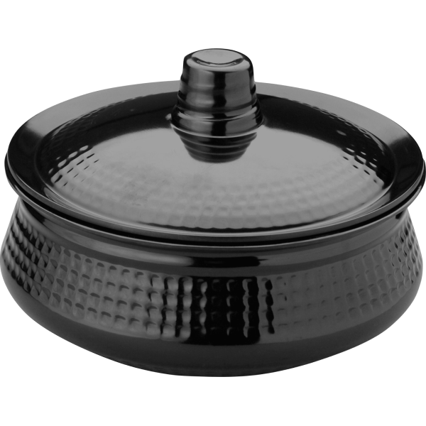 Picture of ROUND HANDI LARGE WITH LID - BLACK